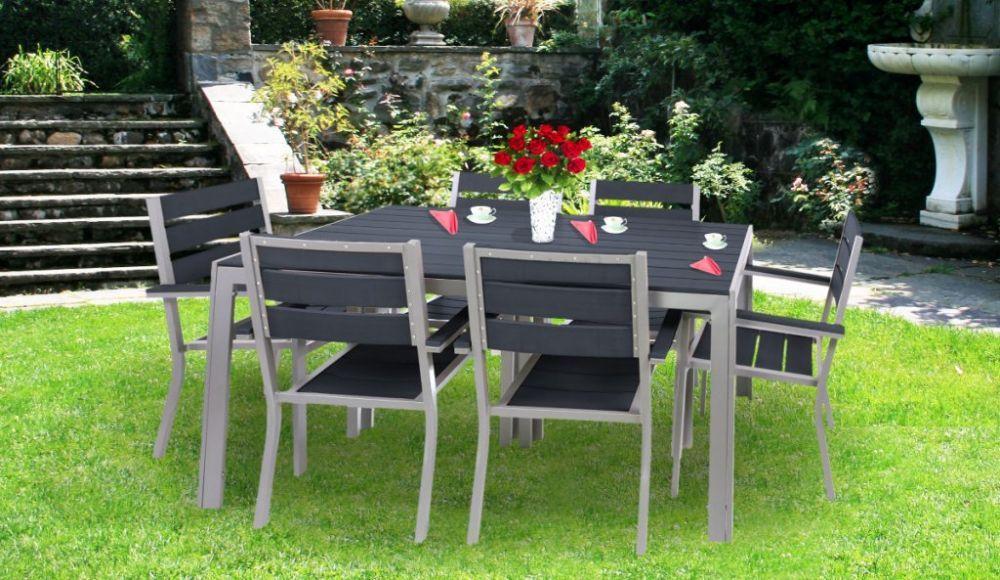 Meble Ogrodowe Rattanowe Zestaw Stoł 8 Krzeseł : MEBLE OGRODOWE ZESTAW RODOS STÓŁ + 6 KRZESEŁ