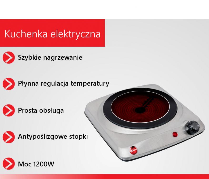 ELDOM KUCHENKA ELEKTRYCZNA TURYSTYCZNA PH11 1200W -> Kuchenka Elektryczna Koszty Eksploatacji